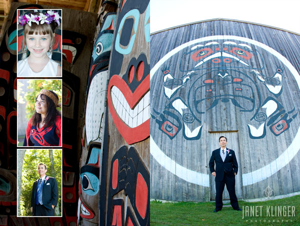 Native American Wedding with Groom at Longhouse