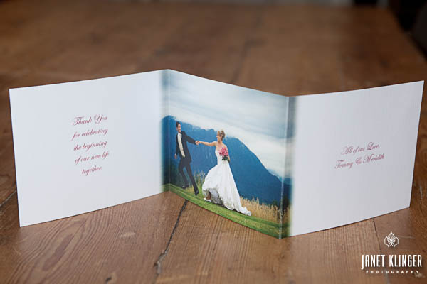 Personalized Accordion Art Cards -the inside.