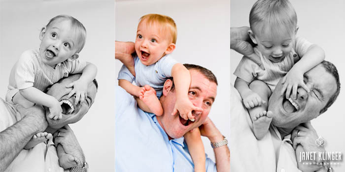 Janet Klinger _ father and son show love playing piggyback