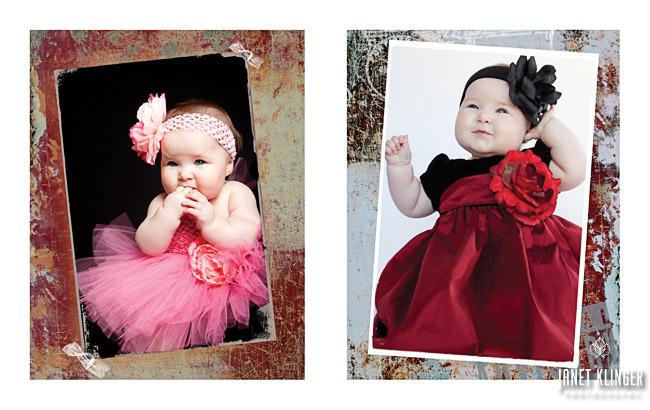 Unique baby portrait techniques