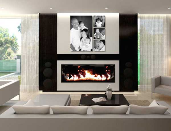 Wall Cluster above mantel