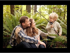 Boy catches love on a hook, family portrait photography, outdoor pictures spark active toddler boys interest,